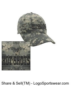 Digital Camo Cap Design Zoom